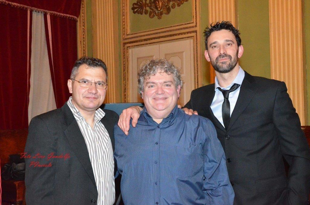 Adriano Camusso, Livio Bruera e Davide Meini, rispettivamente segretario, presidente e vicepresidente associazione Macellai di Pinerolo