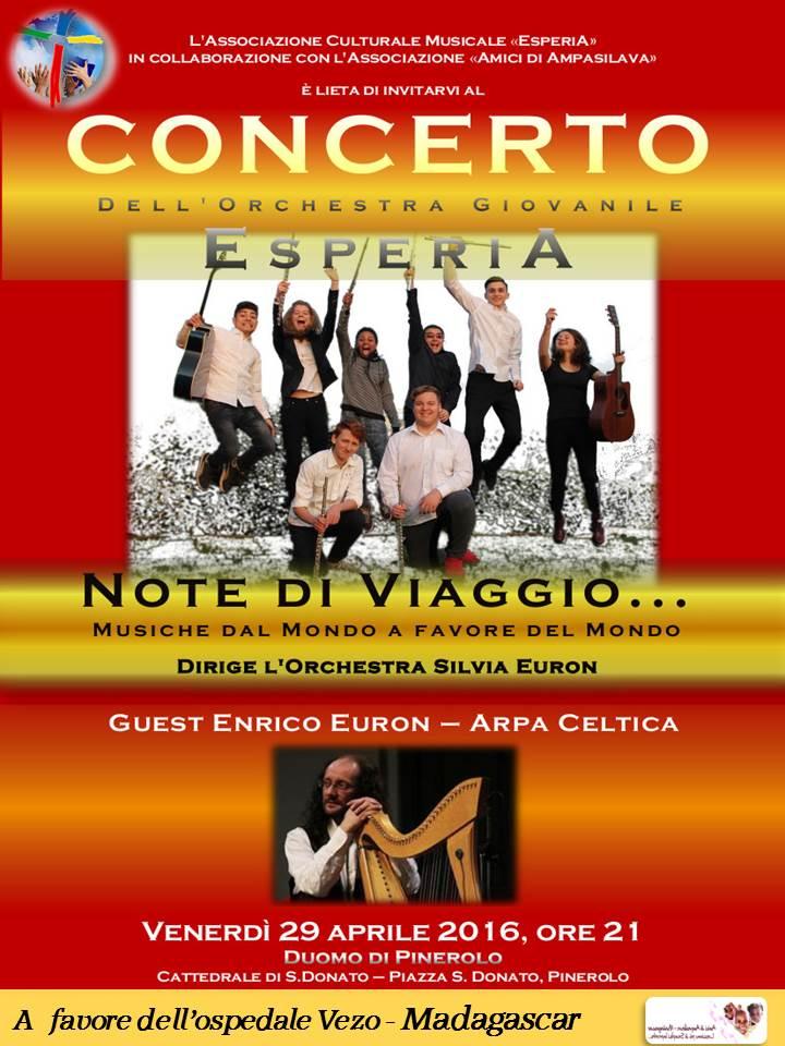 """Pinerolo. Venerdì 29 aprile al Duomo con """"Note di viaggio"""""""