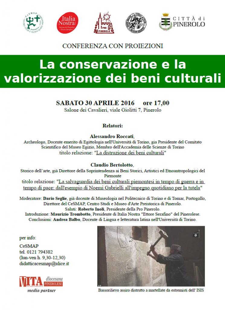locandina conferenza sui beni culturali