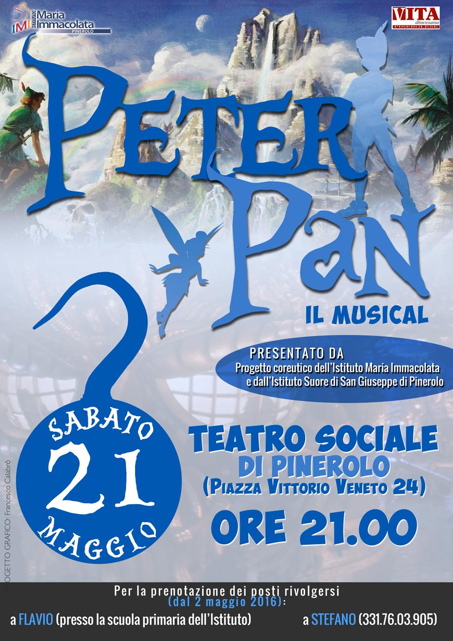 """Pinerolo. Il 21 maggio """"Peter Pan: il musical"""" al Sociale"""