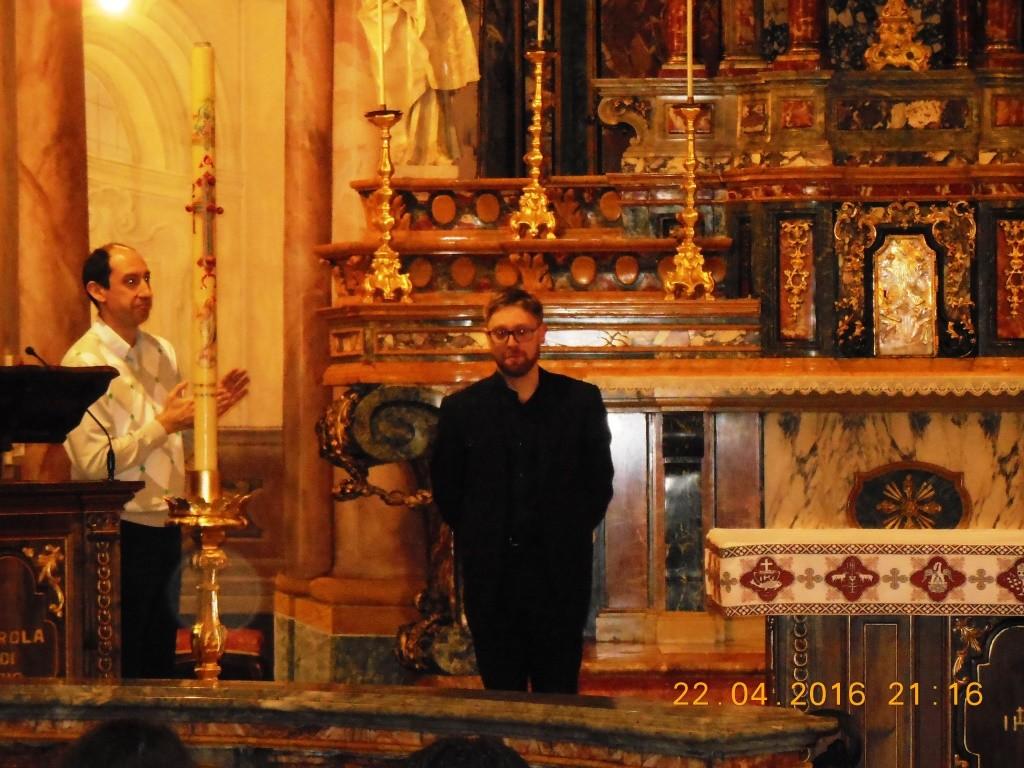 maestro Elia Pivetta alla Visitazione