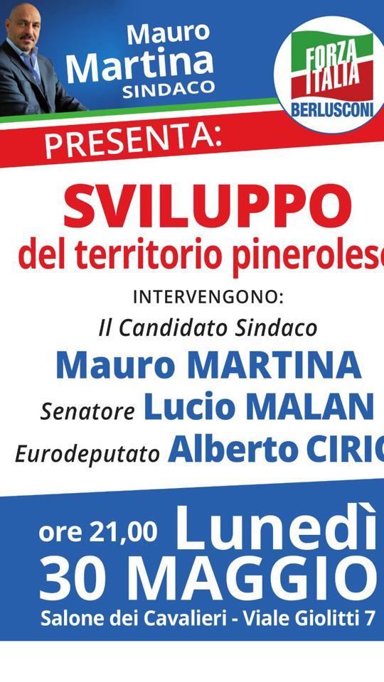 Pinerolo. Forza Italia: il 30 maggio incontro sullo sviluppo del territorio