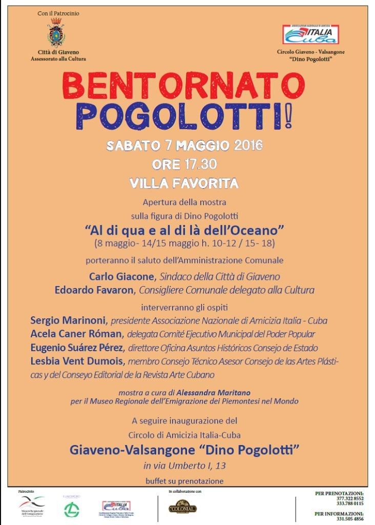 Locandina mostra Domenico pogolotti