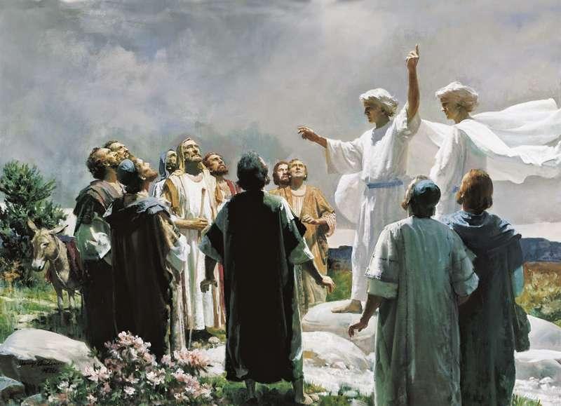 Mentre li benediceva, si staccò da loro
