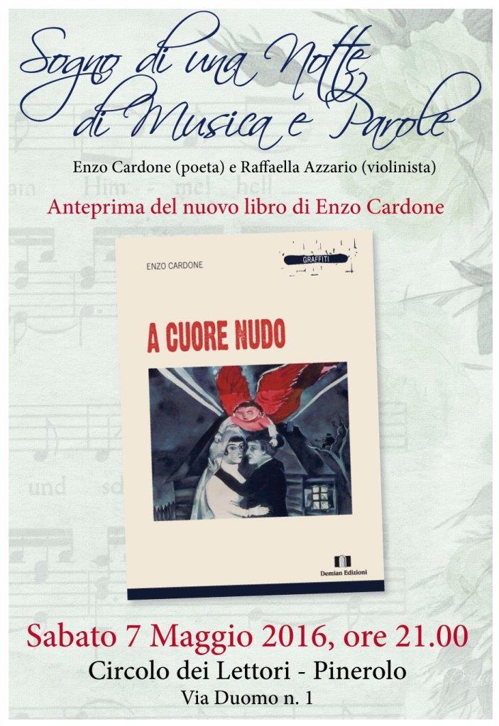 A Cuore Nudo, il nuovo libro di poesie Enzo Cardone