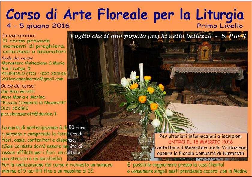A Pinerolo un corso di arte floreale per la liturgia