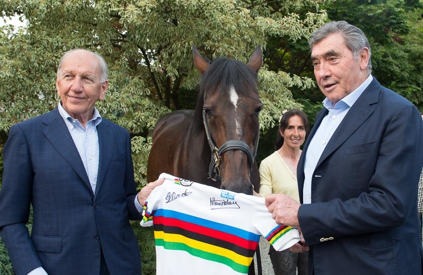 """A Vigone l'incontro tra Eddy Merckx e Varenne, """"gemelli"""" molto diversi"""