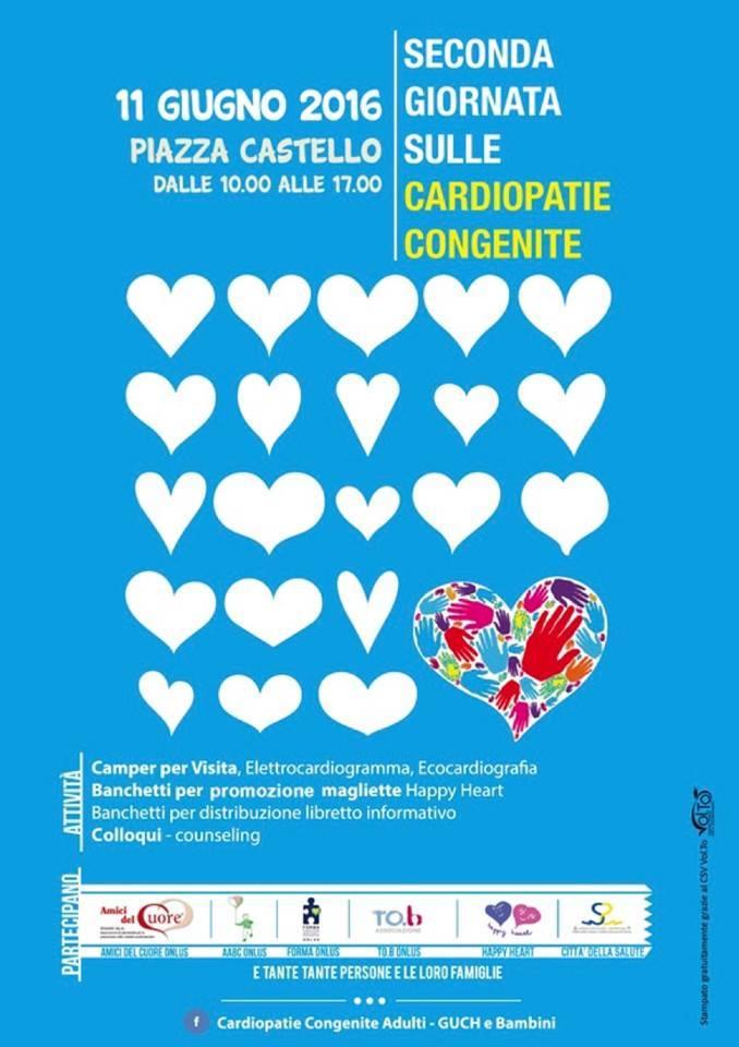 Sabato 11 giugno la Giornata delle cardiopatie congenite