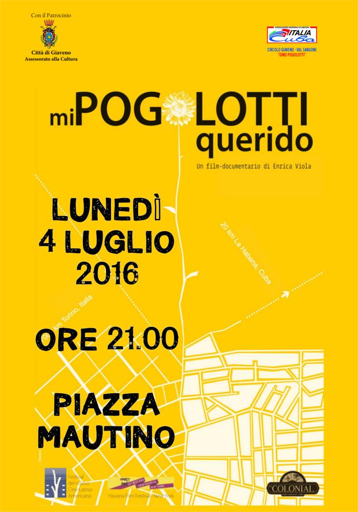 """Giaveno. Il 4 luglio il film in piazza """"Mi Pogolotti querido"""""""