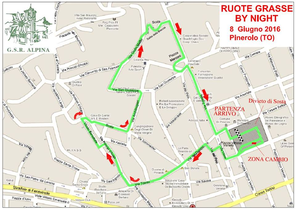 Pinerolo. Gara ciclistica mercoledì 8 giugno: strade chiuse dalle 18:30 alle 23