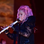 """Cyndi Lauper live on stage at Gruvillage with her """"Greatest Hits Tour""""."""