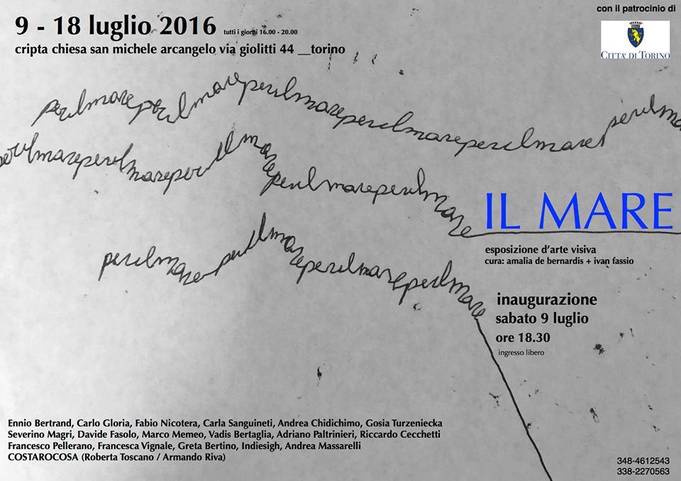 """Torino. Dal 9 luglio """"Il Mare"""", esposizione di arte visiva"""