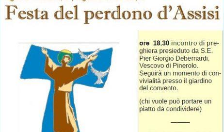 Pinerolo. Martedì 2 agosto la festa del perdono di Assisi