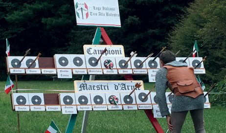 Prarostino. Si sono svolti i campionato italiani di tiro con la Balestra Antica da banco