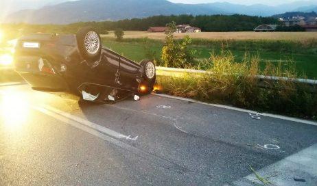 Tamponamento sulla circonvallazione di Pinerolo: quattro feriti
