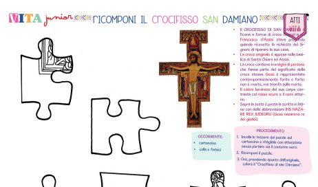 [Lavoretti creativi] Puzzle – Il crocifisso di San Damiano