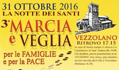 Il 31 ottobre al Colle don Bosco 3° Marcia e Veglia per le Famiglie e per la Pace
