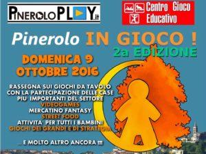 """Domenica 9 ottobre torna """"Pinerolo in Gioco"""""""