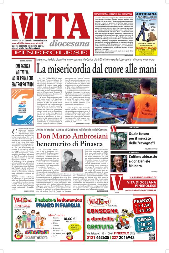 prima-pagina-vita-diocesana-pinerolese-numero-20-domenica-13-novembre