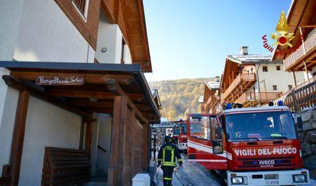 Incendio a Pragelato. Nessun ferito