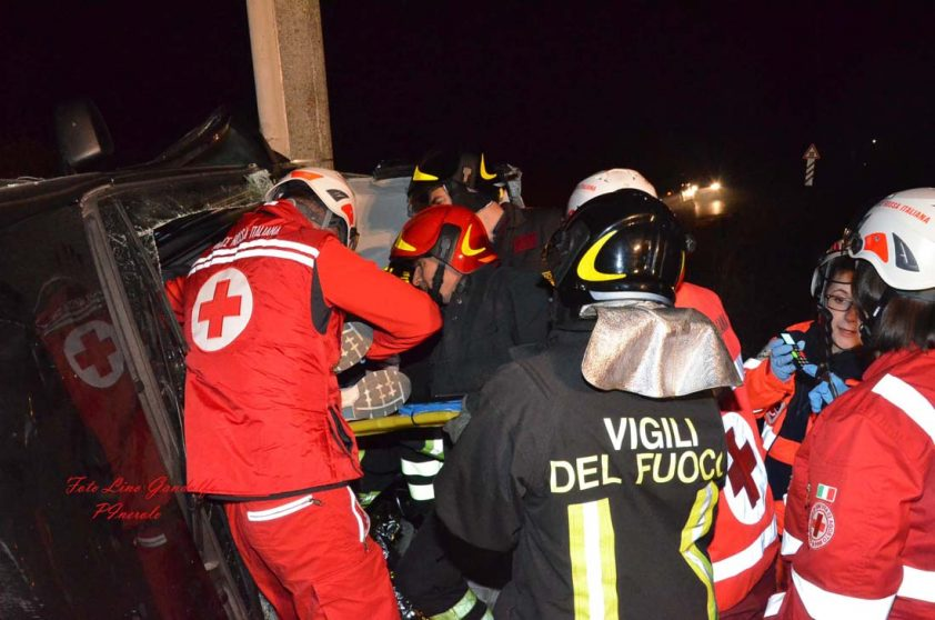 Incidente stradale a Riva di Pinerolo. Tre feriti