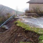 Località Podio, strada che scende a Barard