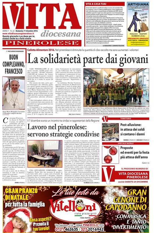 prima-pagina-vita-diocesana-pinerolese-numero-22-domenica-11-dicembre-2016