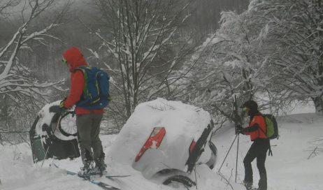 Il soccorso alpino piemontese al lavoro all'Hotel Rigopiano