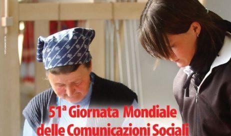 Pubblicato il messaggio di Papa Francesco per la Giornata Mondiale delle Comunicazioni Sociali