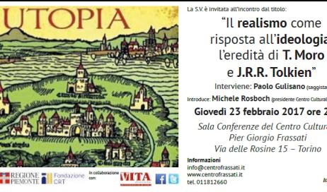 Torino. Giovedì 23 febbraio Gulisano presenta il suo nuovo libro su Tommaso Moro