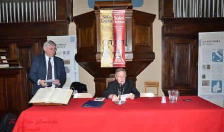 [ photogallery ] Il cardinal Kasper ha raccontato Lutero nel tempio valdese di Pinerolo