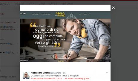 L'Obolo di San Pietro diventa social e apre i profili Twitter e Instagram