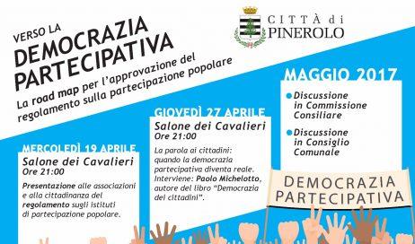 """Pinerolo. """"Road Map"""" verso la democrazia partecipativa"""