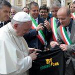 Papa Francesco e sindaco di Perosa