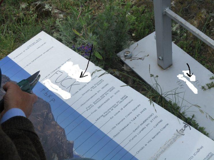 Vandalismo sul Monte Capretto