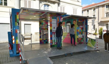 [ photogallery ] Presentato a Pinerolo il RIRI-BOX per sensibilizzare alla raccolta differenziata e al riciclo dei rifiuti