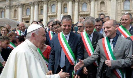 Roma. Papa Francesco ha incontrato i sindaci del pinerolese