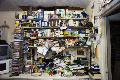 PIC BY PAULA SALISCHIKER / CATERS NEWS - (PICTURED: Inside a hoarders house) - A photographer with a strong stomach has dared go where others dare not in an attempt to help hoarders cure their condition. Paula Salischiker, from London, was invited into the homes of hoarders in London and Essex, while working with a group who meet regularly in a bid to try and remedy their condition. SEE CATERS COPY.