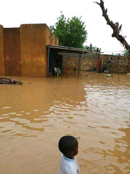 Burkina Faso. Alluvione nella zona dove l'Associazione don Barra for Africa ha costruito un bacino idrico