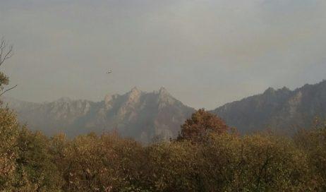 Emergenza incendi. Migliora la situazione in Val Noce