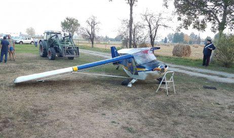 Pinerolo. Incidente ad un aereo da turismo durante l'atterraggio. Ferito il pilota