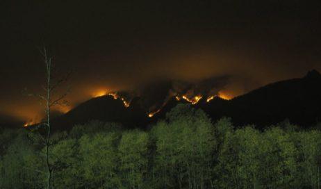 Emergenza incendio a Cantalupa. Il fuoco si avvicina alle abitazioni