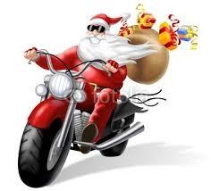 Babbo Natale in moto e in forma