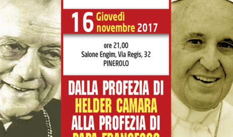 Da Hélder Câmara a Papa Francesco. Giovedì 16 novembre un incontro  a Pinerolo