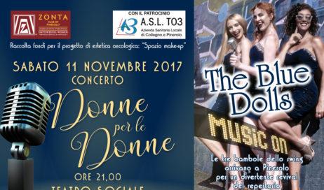 """Pinerolo. Sabato 11 novembre """"Donne per le Donne"""" al Teatro Sociale"""