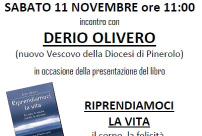"""A Pinerolo la presentazione del libro di monsignor Olivero """"Riprendiamoci la vita"""""""