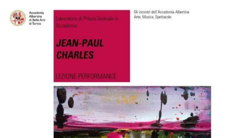 L'artista Jean Paul Charles all'Accademia Albertina di Torino