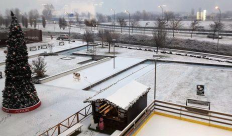 Arriva la Neve. A Pinerolo sabbiatura preventiva delle strade