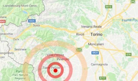 Lieve scossa di terremoto nel pinerolese