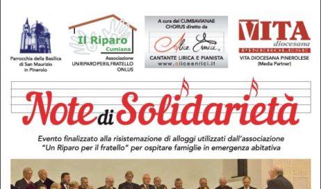 """Pinerolo. Sabato 14 aprile """"Note di Solidarietà"""""""